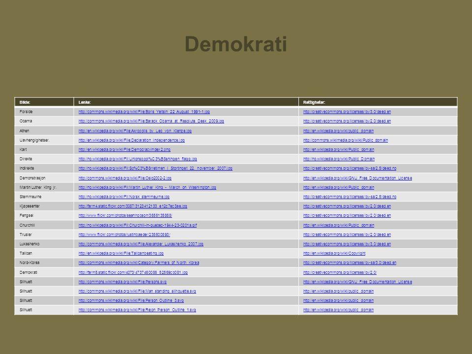 Demokrati Bilde:Lenke:Rettigheter: Forsidehttp://commons.wikimedia.org/wiki/File:Boris_Yeltsin_22_August_1991-1.jpghttp://creativecommons.org/licenses