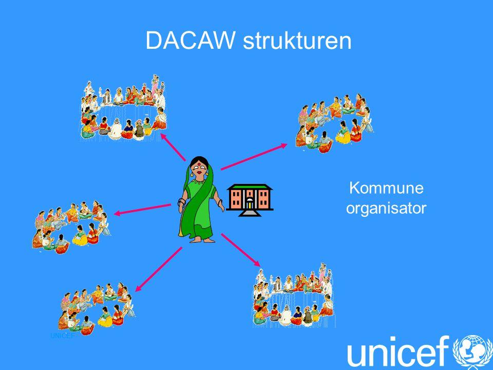 UNICEF Kommune organisator DACAW strukturen