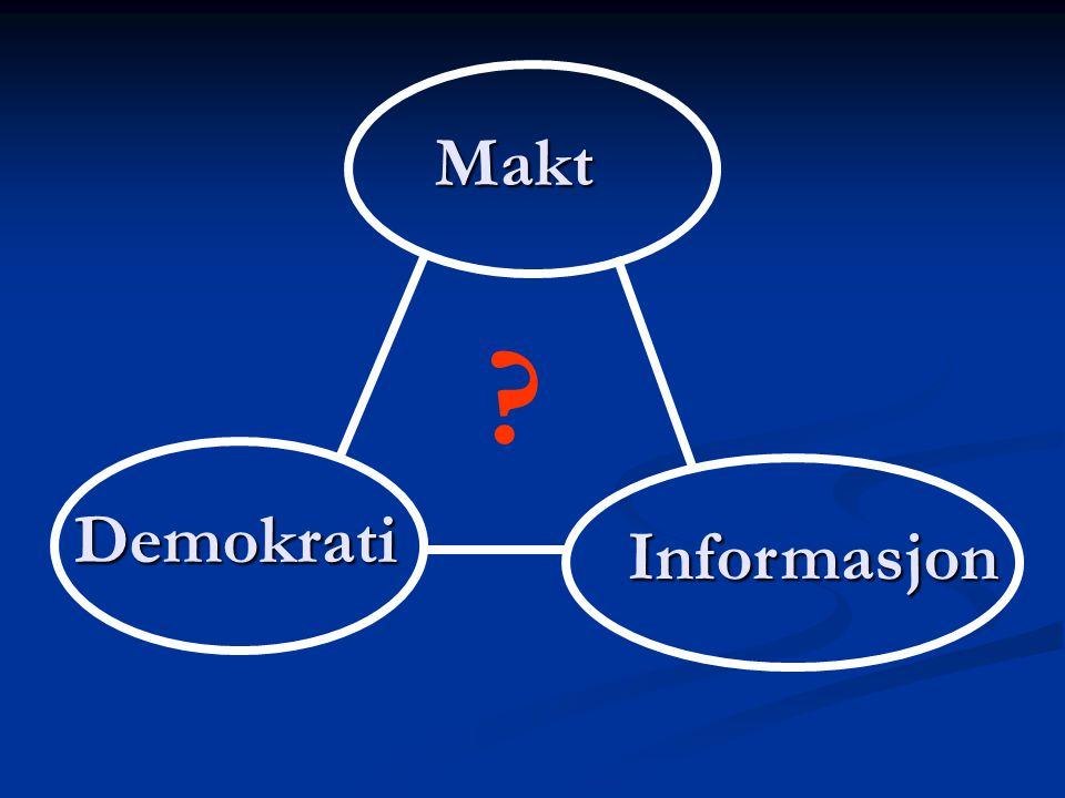 Makt Demokrati Informasjon ?