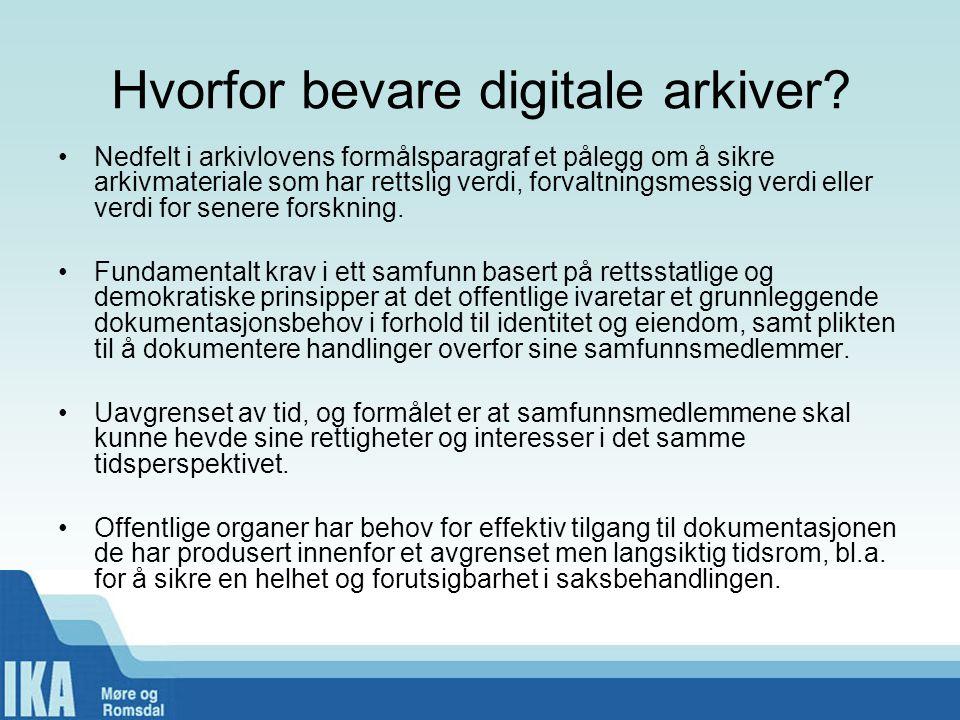 Status for elektronisk depot •Alle 37 kommuner er tilsluttet i IKA Møre og Romsdal, i tilllegg til fylkeskommunen.