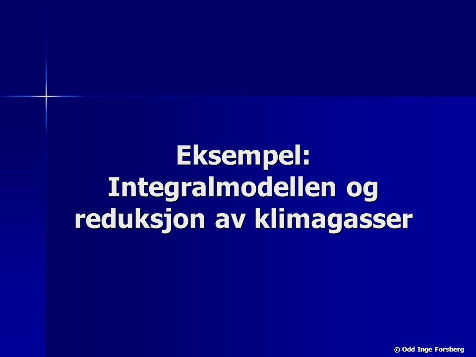 © Odd Inge Forsberg Eksempel: Integralmodellen og reduksjon av klimagasser