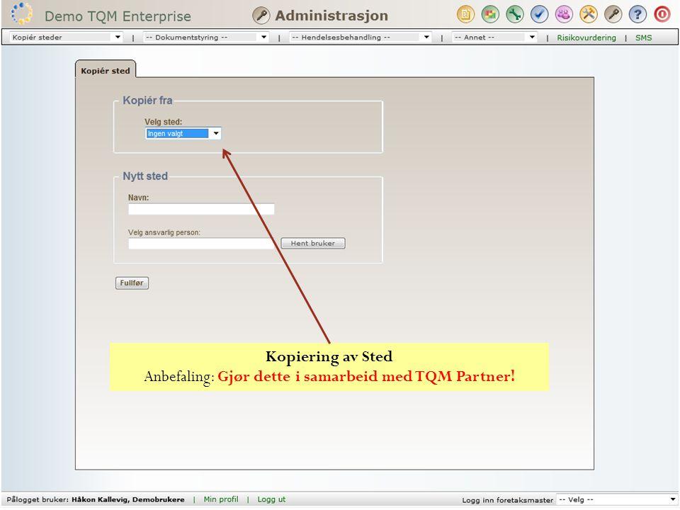 Endringer Dokumentstyringsmodulen