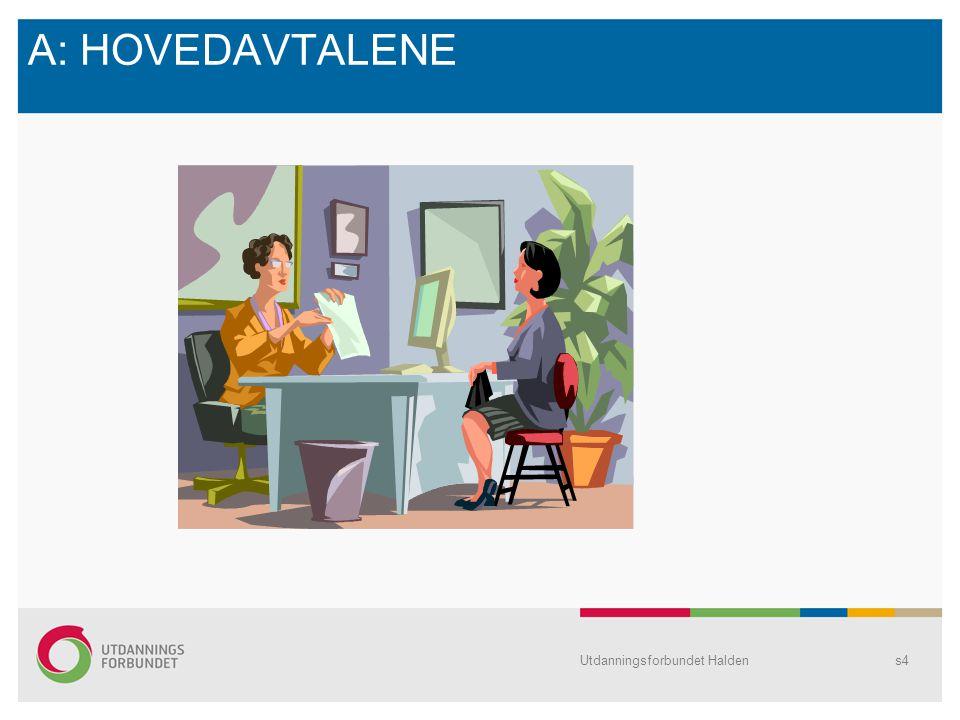 A: HOVEDAVTALENE Utdanningsforbundet Haldens4