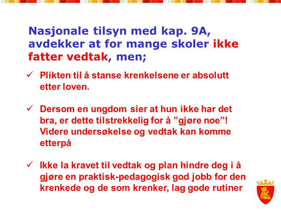 Nasjonale tilsyn med kap.
