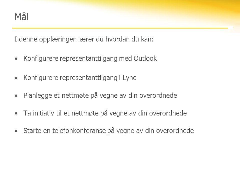 Konfigurere representanttilgang med Outlook 2007 1.Klikk Verktøy, og klikk deretter Alternativer.