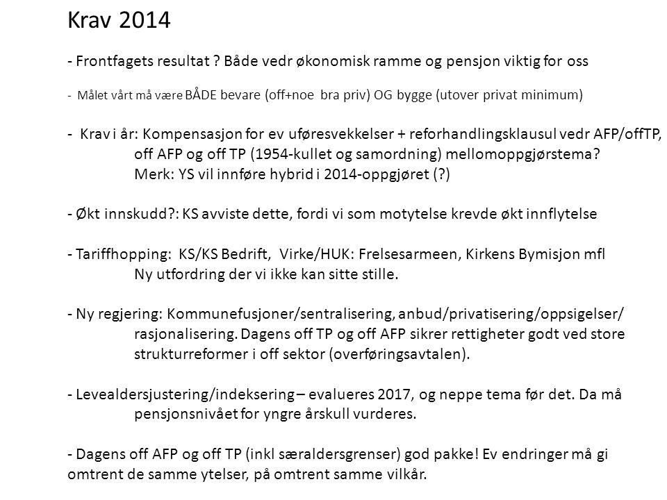 Krav 2014 - Frontfagets resultat .
