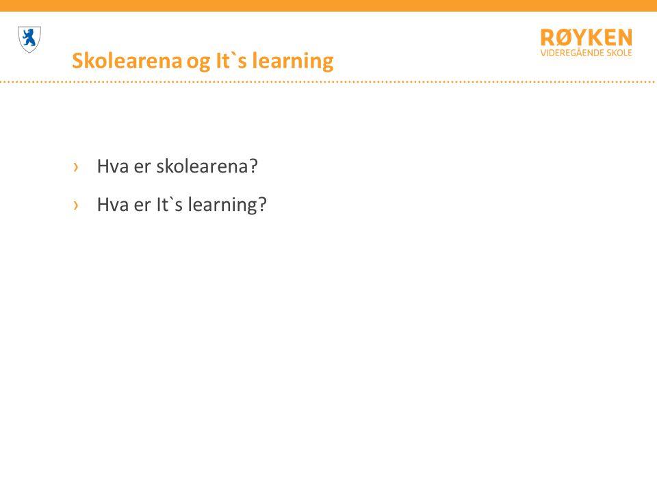 Skolearena og It`s learning ›Hva er skolearena? ›Hva er It`s learning?