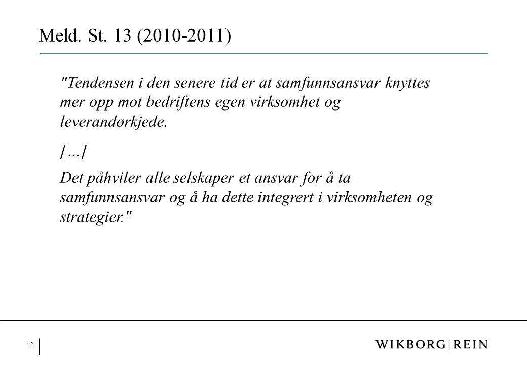 12 Meld. St. 13 (2010-2011)