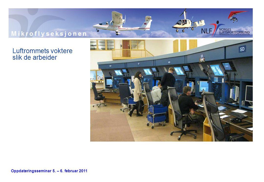Oppdateringsseminar 5. – 6. februar 2011 Luftrommets voktere slik de arbeider