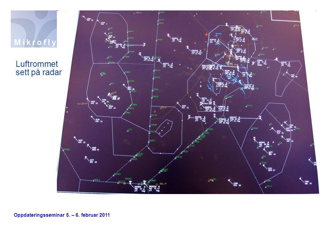 Oppdateringsseminar 5. – 6. februar 2011 Luftrommet sett på radar