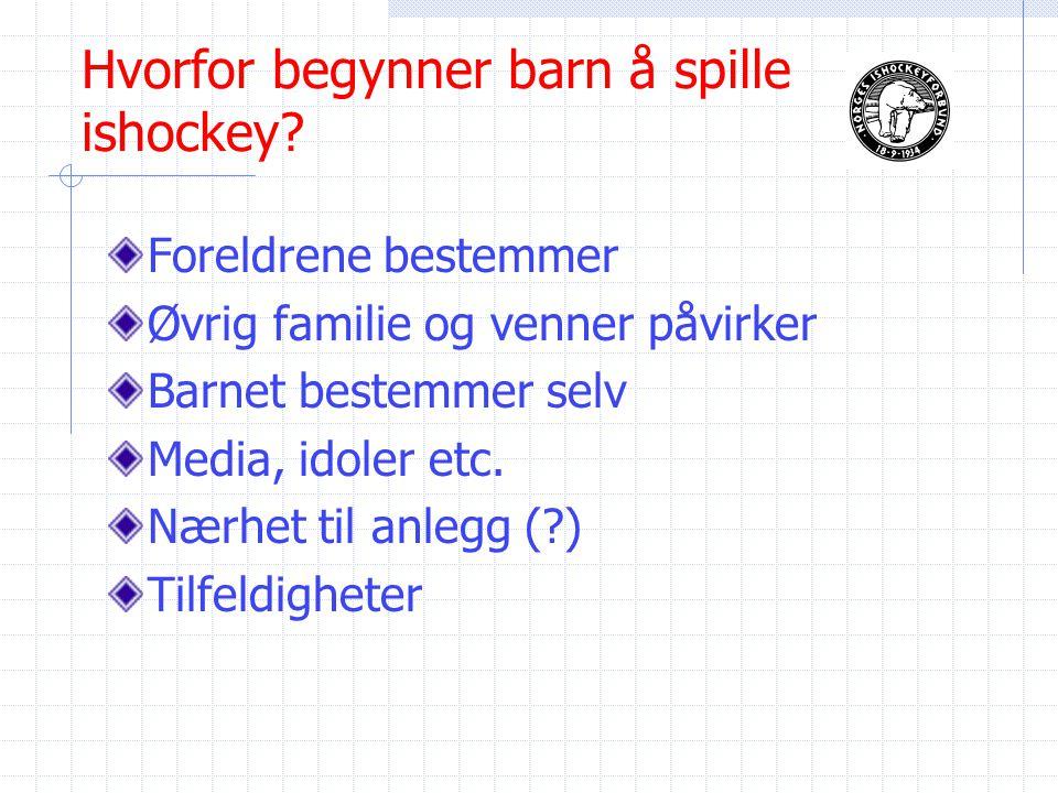 Hvorfor begynner barn å spille ishockey.