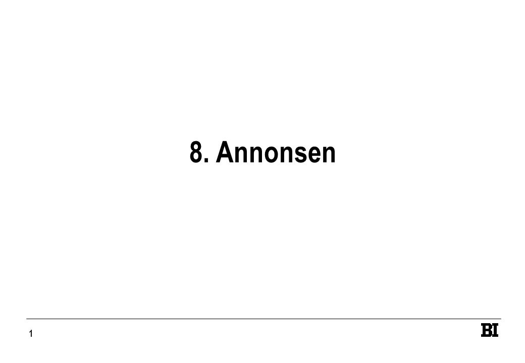 1 8. Annonsen