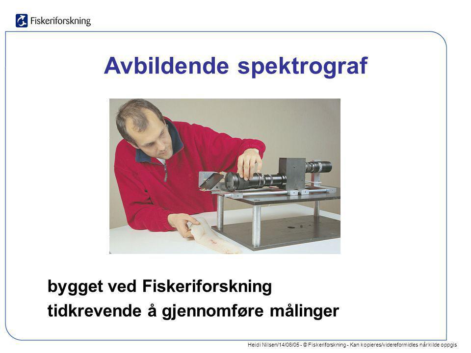 Heidi Nilsen/14/06/05 - © Fiskeriforskning - Kan kopieres/videreformidles når kilde oppgis Avbildende spektrograf bygget ved Fiskeriforskning tidkreve