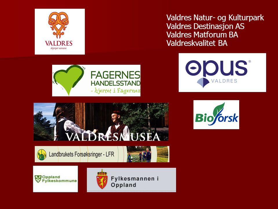Valdres Natur- og Kulturpark Valdres Destinasjon AS Valdres Matforum BA Valdreskvalitet BA