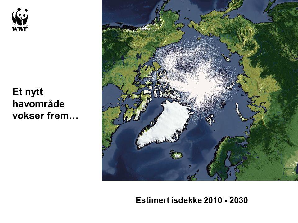 Estimert isdekke 2010 - 2030 Et nytt havområde vokser frem…