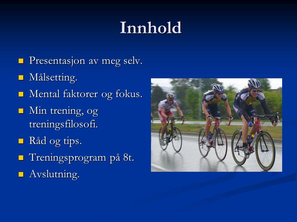 Presentasjon av meg. 25år aktiv syklist fra Stavanger SK.