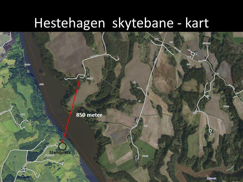 Hestehagen skytebane - kart 850 meter Standplass
