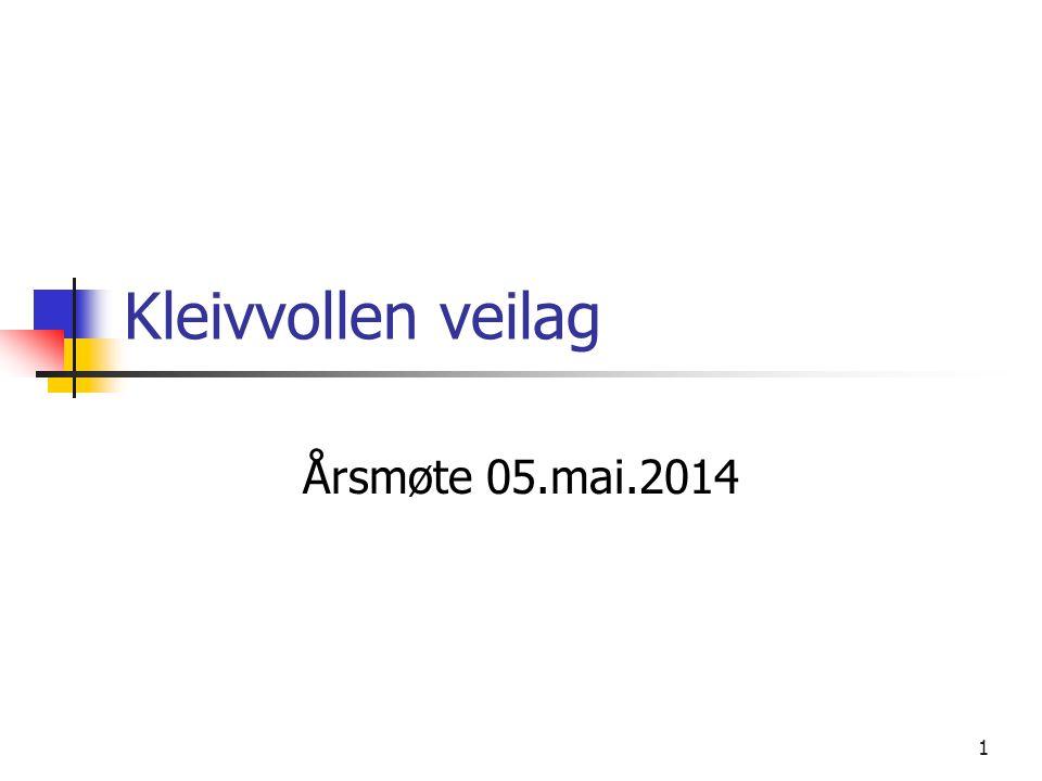 Kleivvollen veilag Årsmøte 05.mai.2014 1