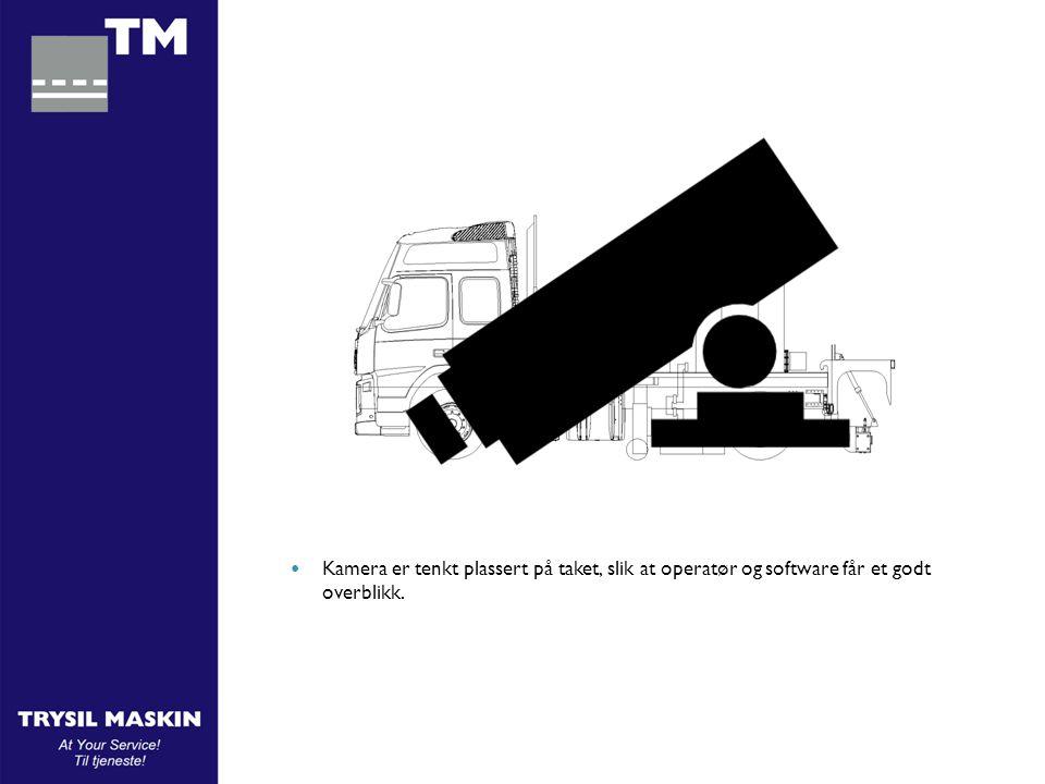  Kamera er tenkt plassert på taket, slik at operatør og software får et godt overblikk.