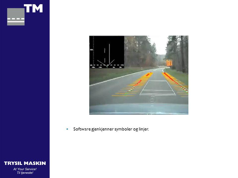 INTERGRATED POSITION RULES  Software finner automatisk senter av kjørefeltet Center!