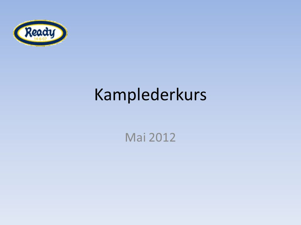 Kamplederkurs Mai 2012