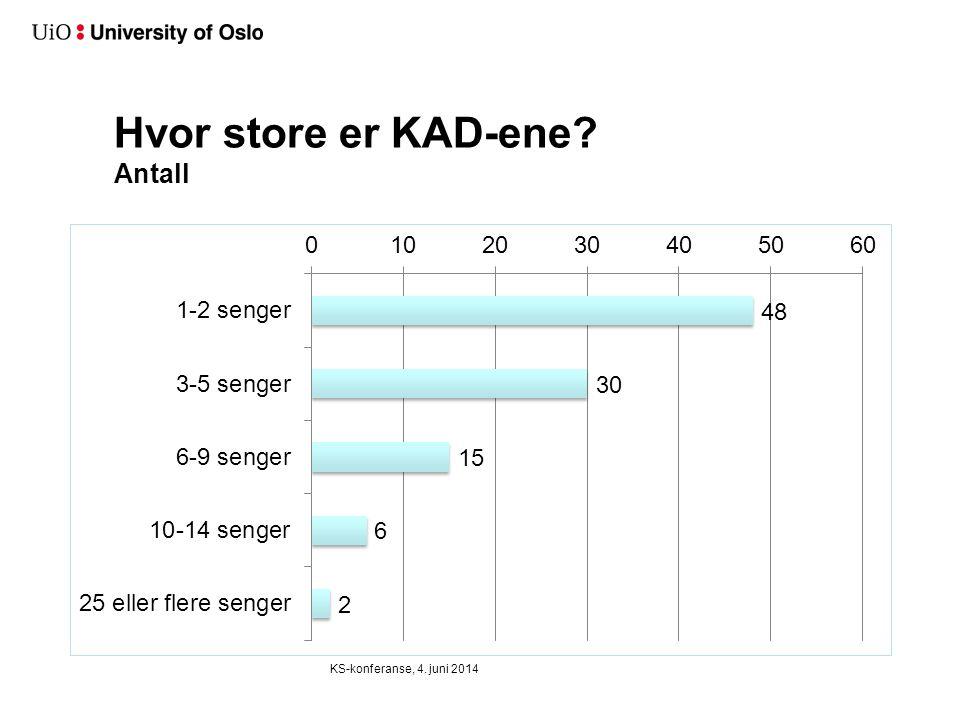 Hvor store er KAD-ene? Antall KS-konferanse, 4. juni 2014