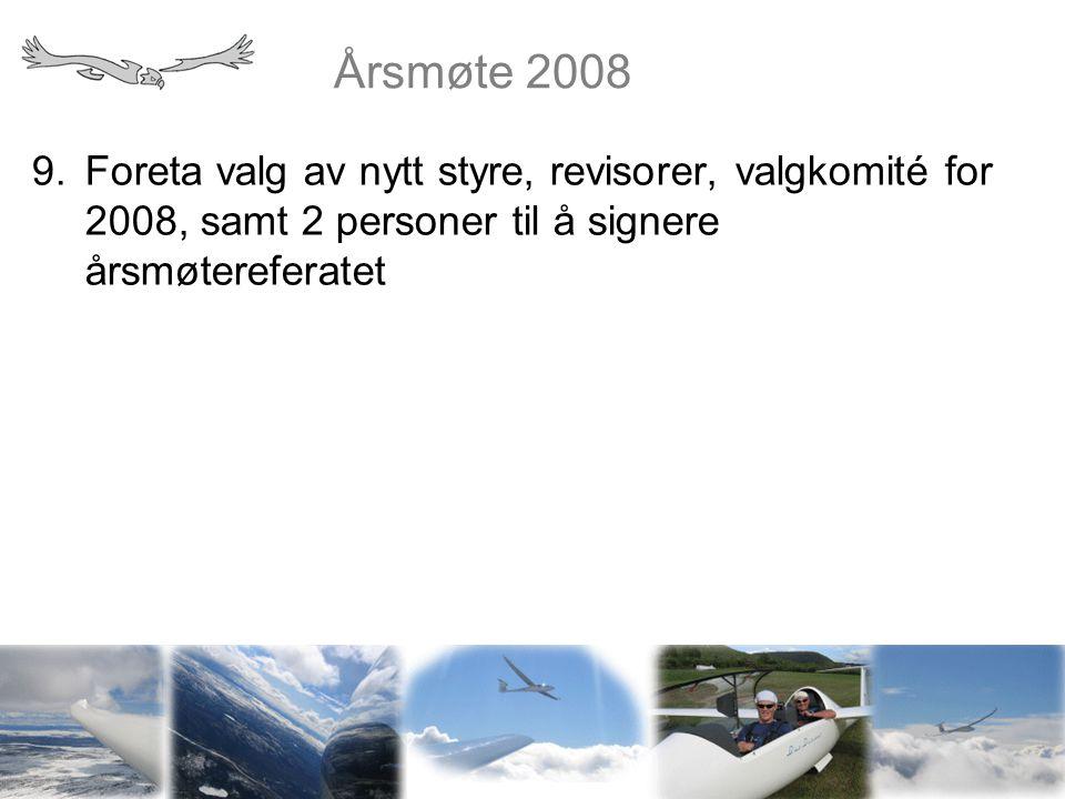 Årsmøte 2008 10.Planer for sesongen 1.Strandefjorden 2.Påskeleir 3.Sommerleir 4.Høstleir