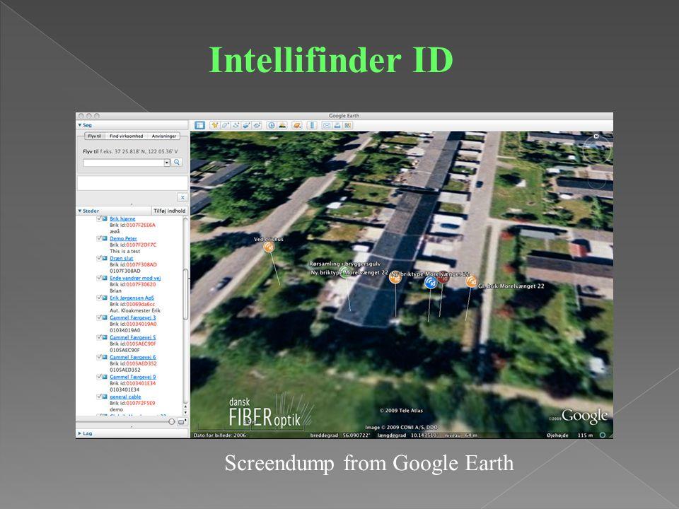 Screendump from Google Earth Intellifinder ID