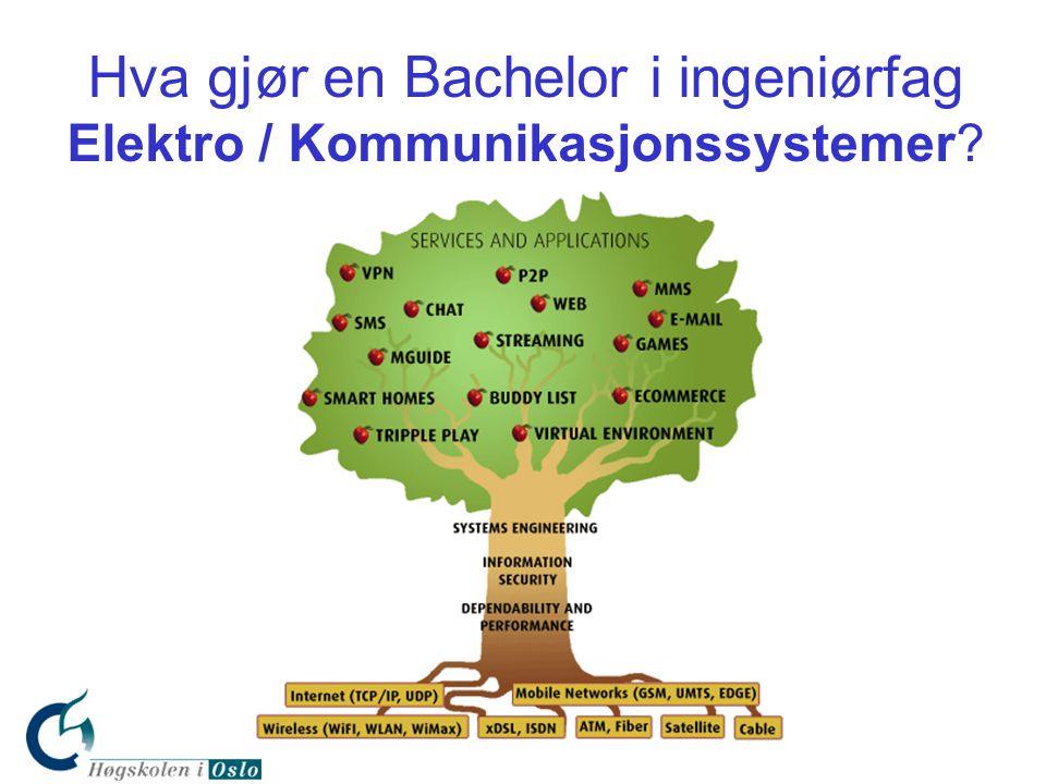 Hva gjør en Bachelor i ingeniørfag Elektro / Kommunikasjonssystemer?