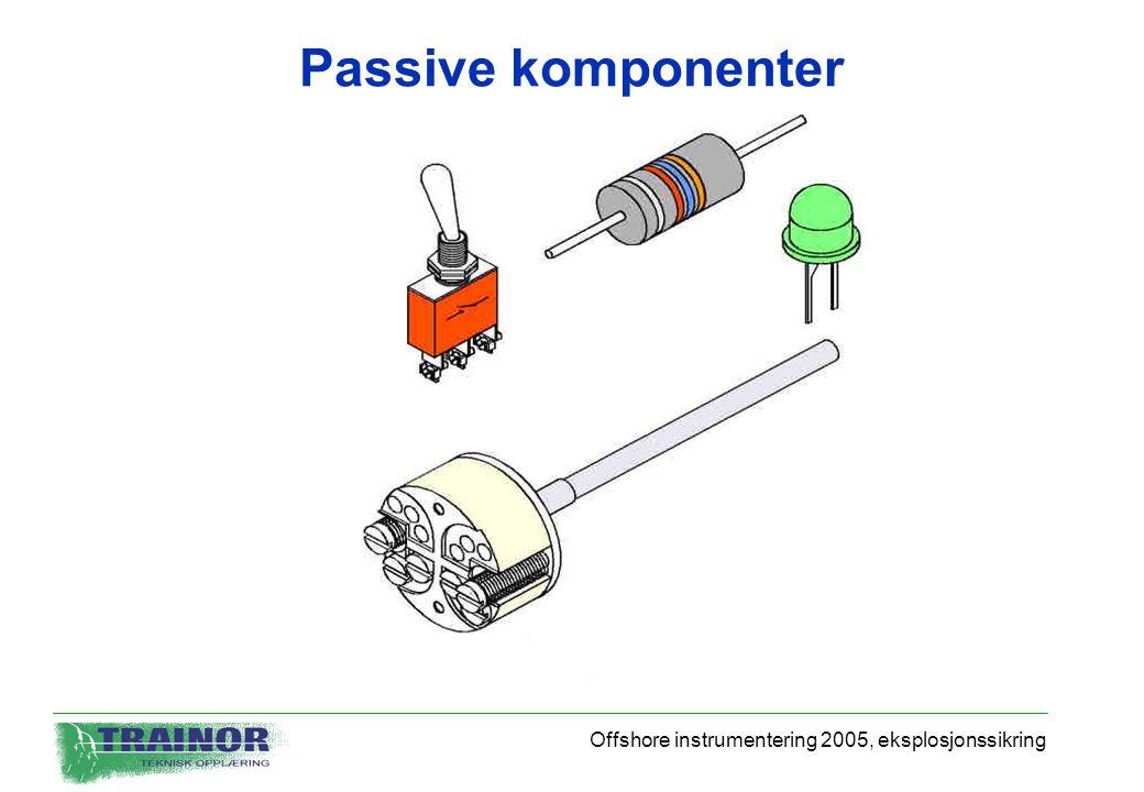 Offshore instrumentering 2005, eksplosjonssikring Passive komponenter