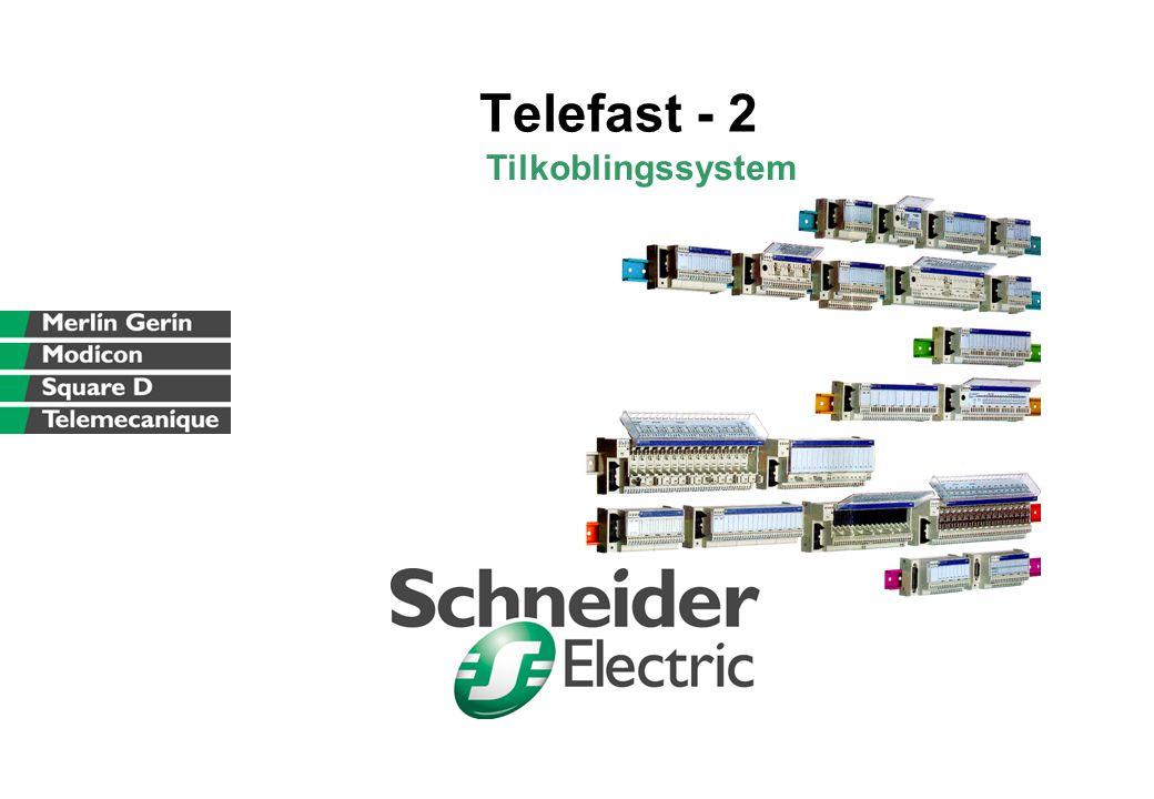 Schneider Electric Norge A/S - Oktober 2002 - Telefast-2_2002_n.ppt 22 Fordeler med Telefast: •Billig •Krever lite plass •Stor funksjonalitet •Mer plass for dokumentasjon på modulene Enkelt - Sikkert - Hurtig - Kostnadseffektivt  Redusert installasjonskostnad  Sikker kabling  Mange tilkoblingsvarianter  Raskt og enkelt vedlikehold  OPTIMAL serie  UNIVERSAL serie