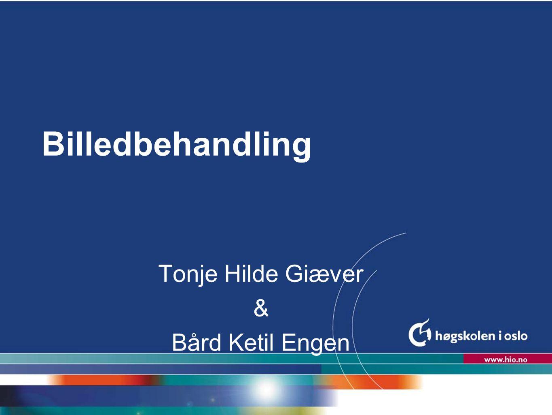 Høgskolen i Oslo Billedbehandling Tonje Hilde Giæver & Bård Ketil Engen