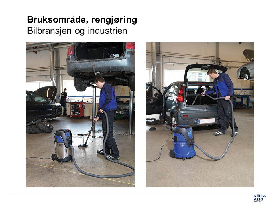 Bruksområde, rengjøring Bilbransjen og industrien