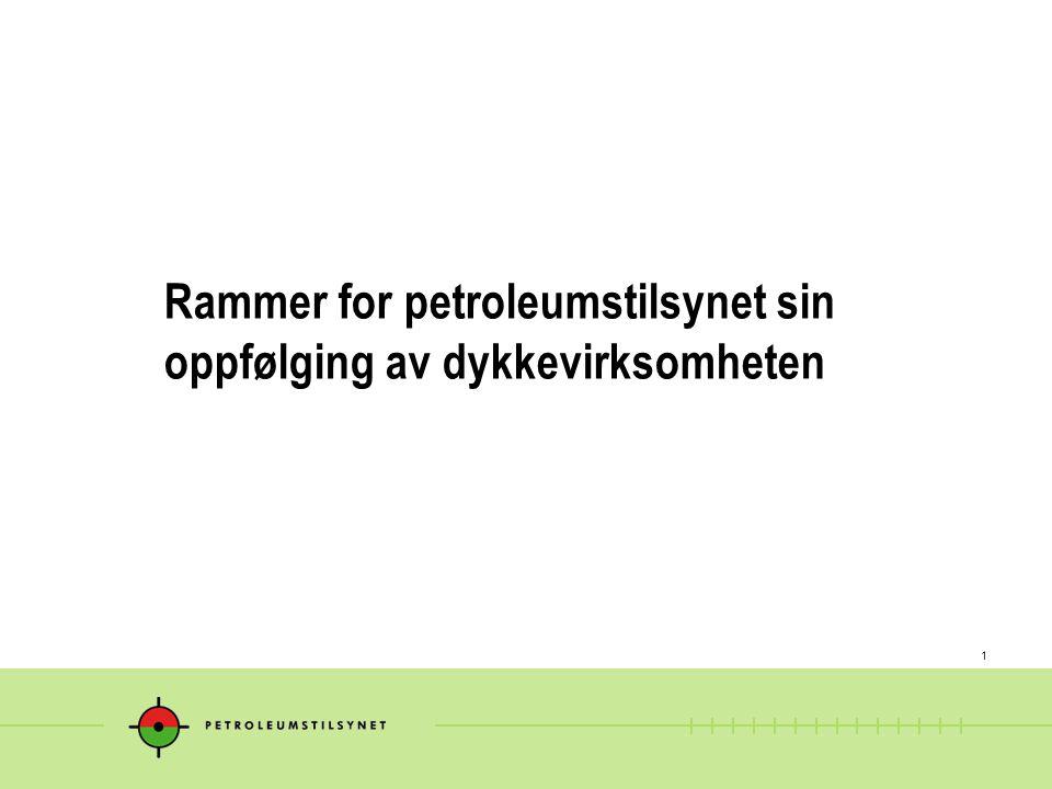 1 Rammer for petroleumstilsynet sin oppfølging av dykkevirksomheten