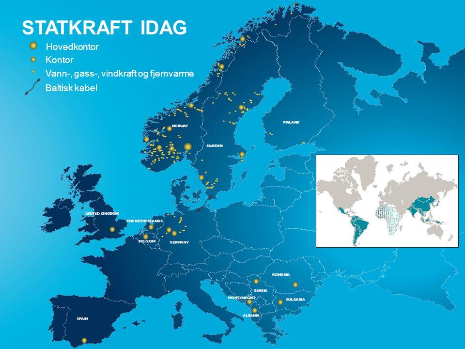 side 3 STAKRAFT 2008 STATKRAFT IDAG Baltisk kabel Kontor Vann-, gass-, vindkraft og fjernvarme Hovedkontor