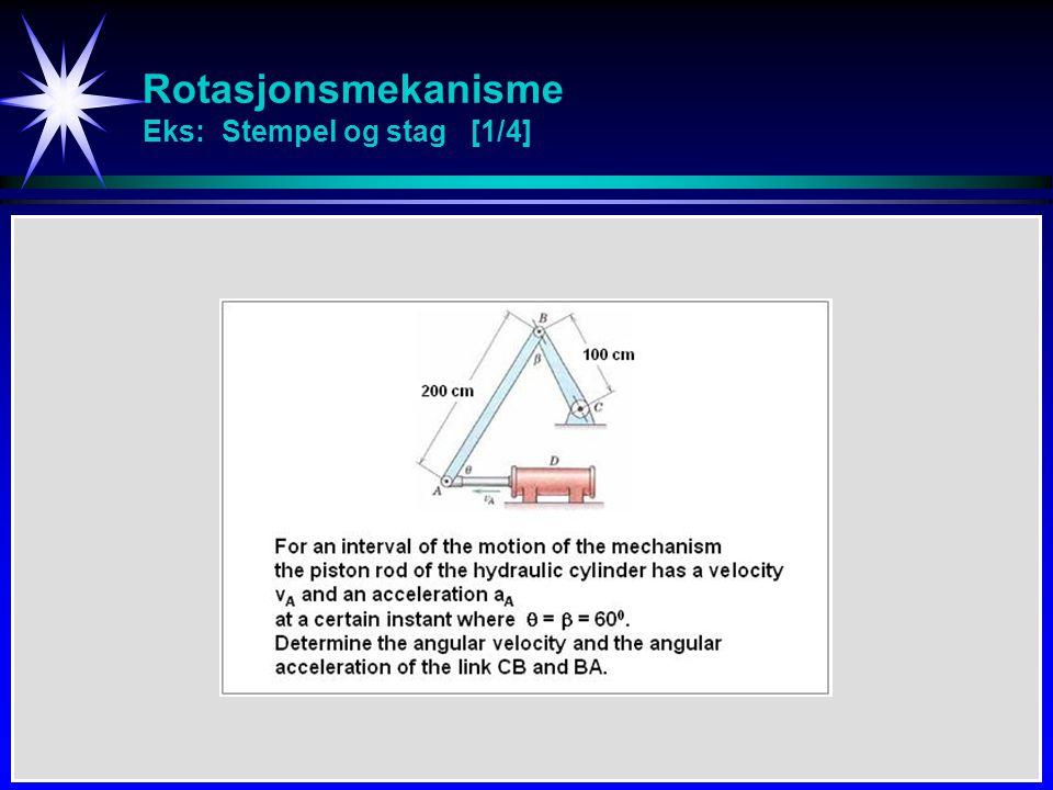 Rotasjonsmekanisme Eks: Stempel og stag [1/4]