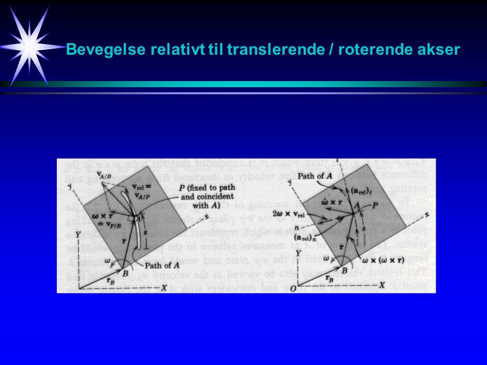 Bevegelse relativt til translerende / roterende akser