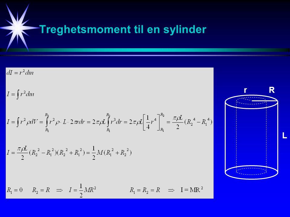 Treghetsmoment til en sylinder L Rr