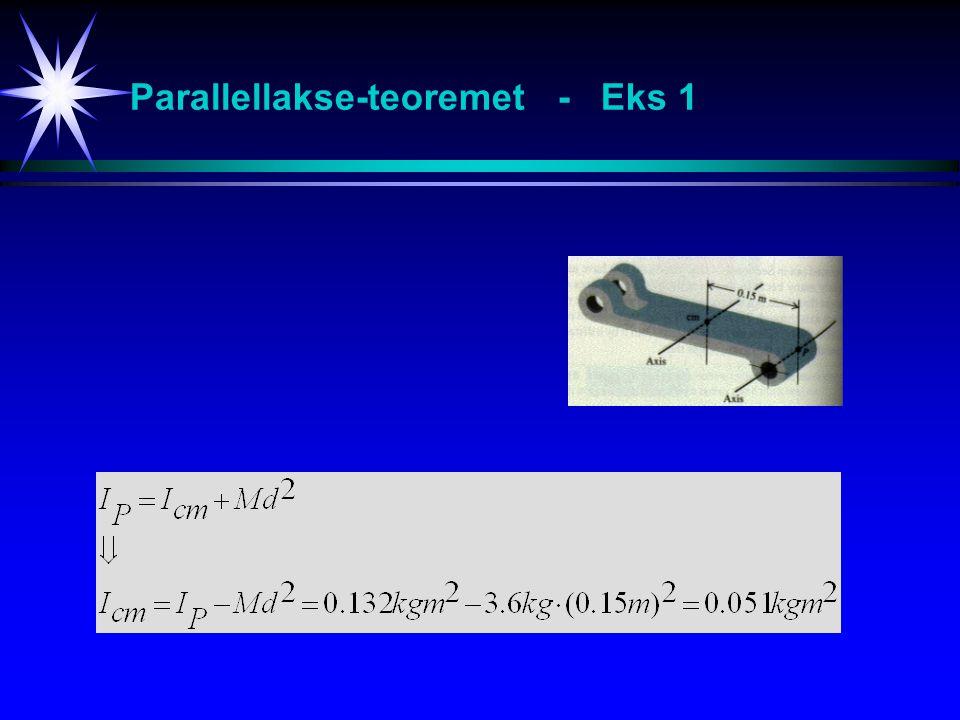 Parallellakse-teoremet - Eks 1