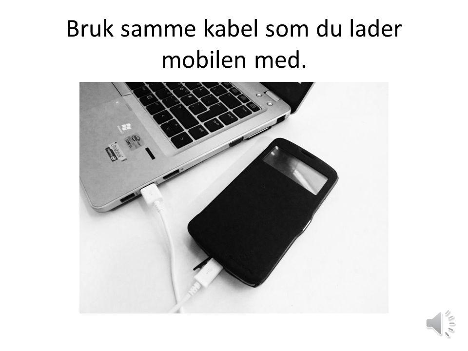 OVERFØRING AV BILDER FRA MOBIL TIL PC.