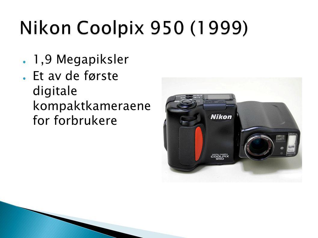 ● 1,9 Megapiksler ● Et av de første digitale kompaktkameraene for forbrukere