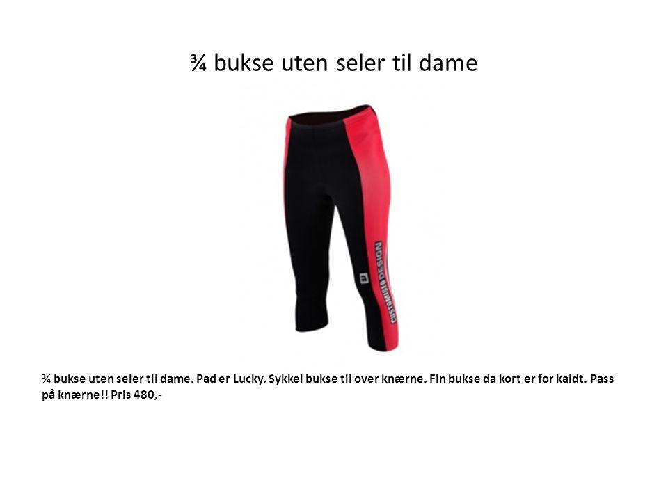 ¾ bukse uten seler til dame ¾ bukse uten seler til dame.