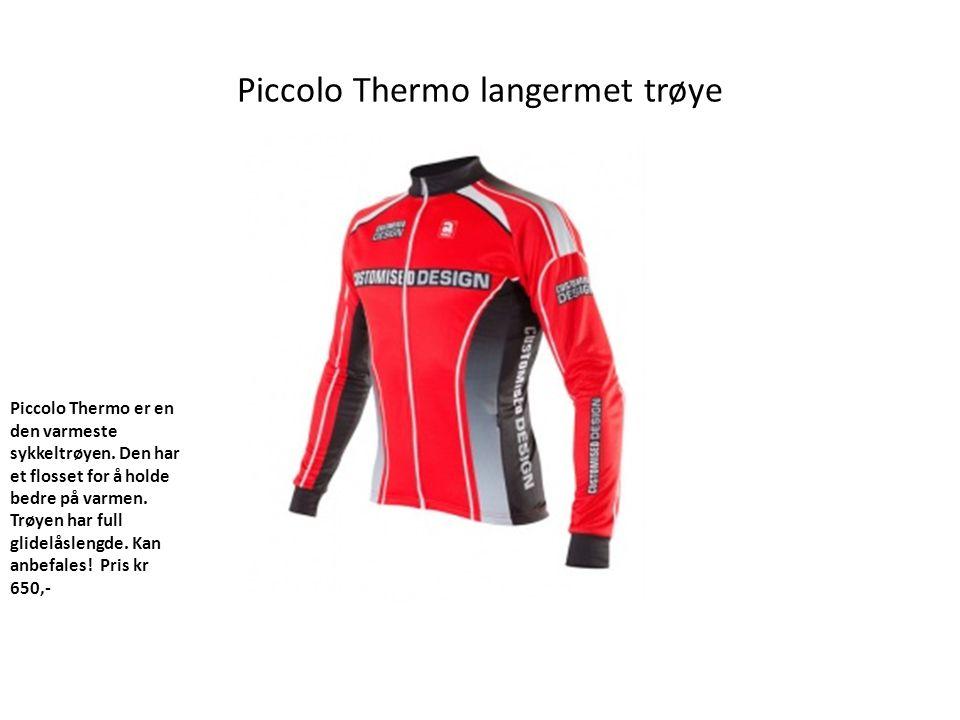 Piccolo Thermo langermet trøye Piccolo Thermo er en den varmeste sykkeltrøyen.
