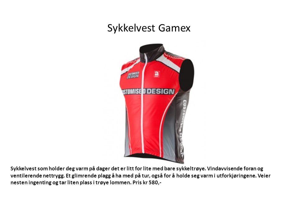 Sykkelvest Gamex Sykkelvest som holder deg varm på dager det er litt for lite med bare sykkeltrøye.