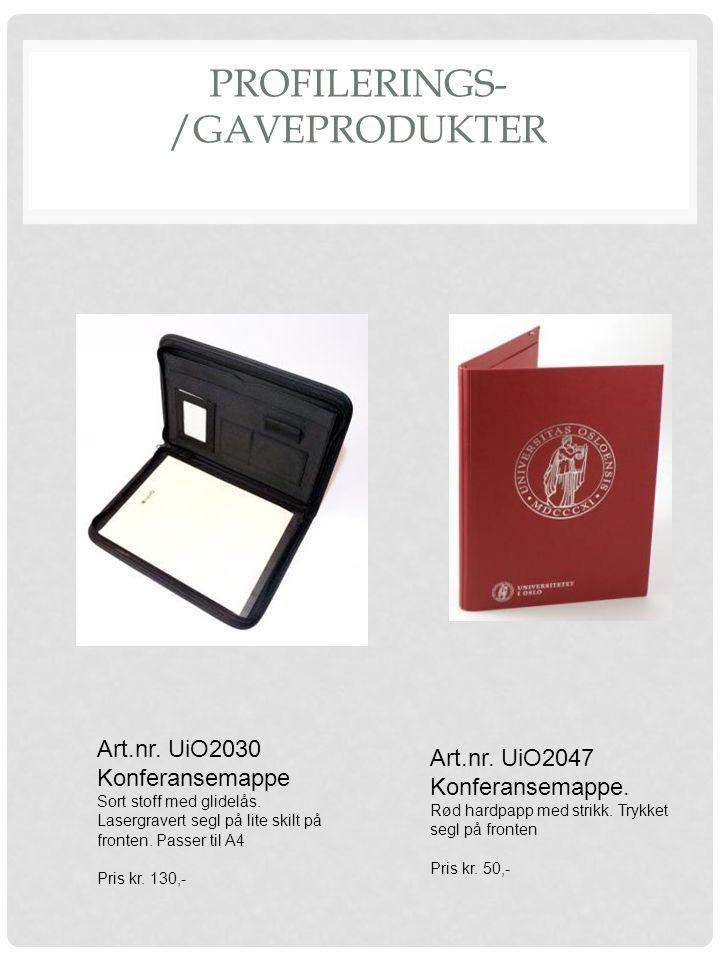 PROFILERINGS- /GAVEPRODUKTER Art.nr.UiO2030 Konferansemappe Sort stoff med glidelås.