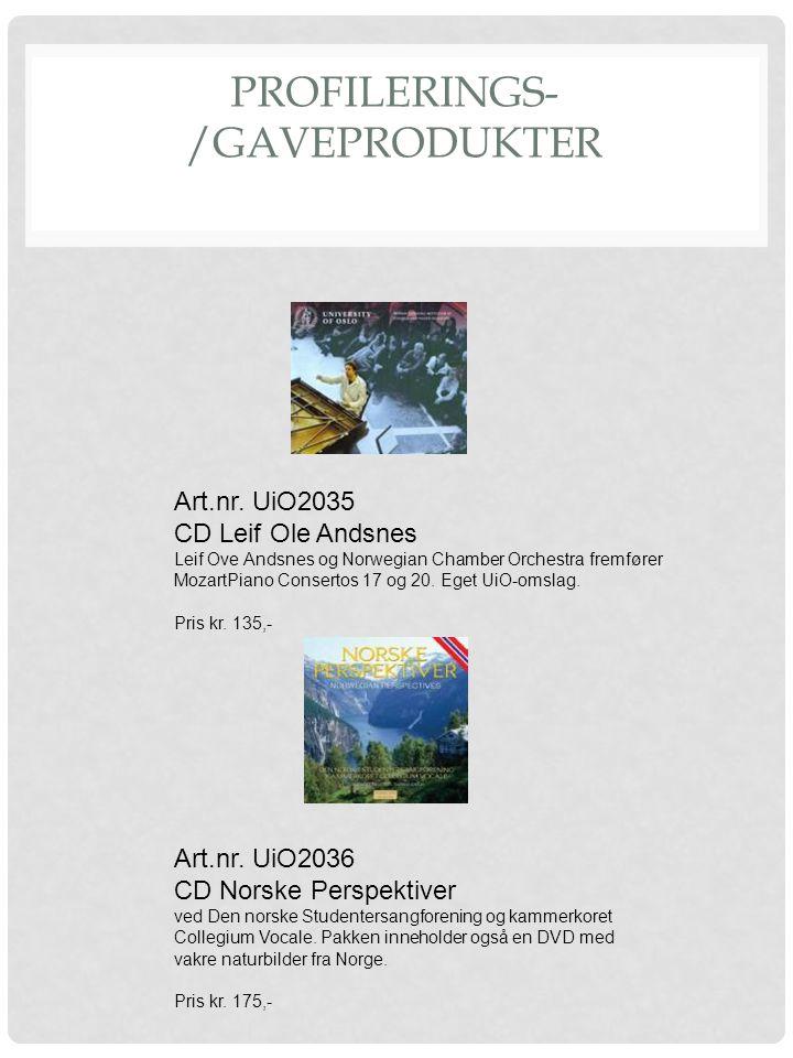 PROFILERINGS- /GAVEPRODUKTER Art.nr. UiO2035 CD Leif Ole Andsnes Leif Ove Andsnes og Norwegian Chamber Orchestra fremfører MozartPiano Consertos 17 og