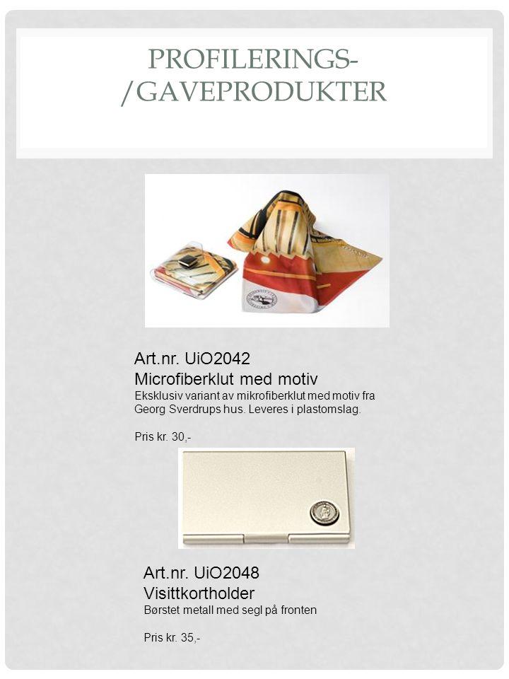 PROFILERINGS- /GAVEPRODUKTER Art.nr. UiO2042 Microfiberklut med motiv Eksklusiv variant av mikrofiberklut med motiv fra Georg Sverdrups hus. Leveres i