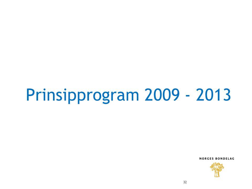 Prinsipprogram 2009 - 2013 32