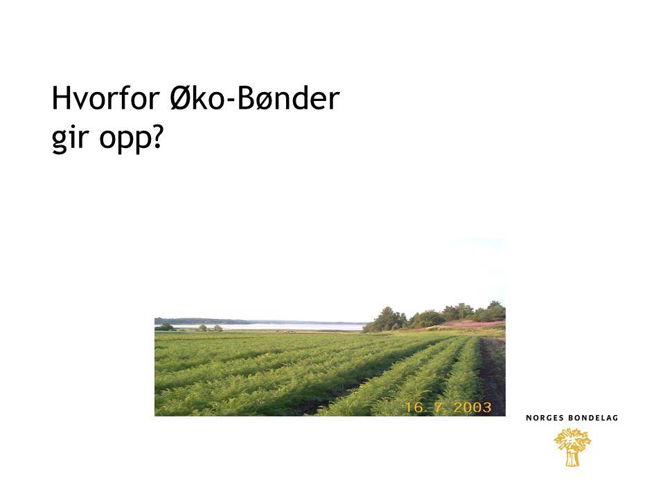 Hvorfor Øko-Bønder gir opp