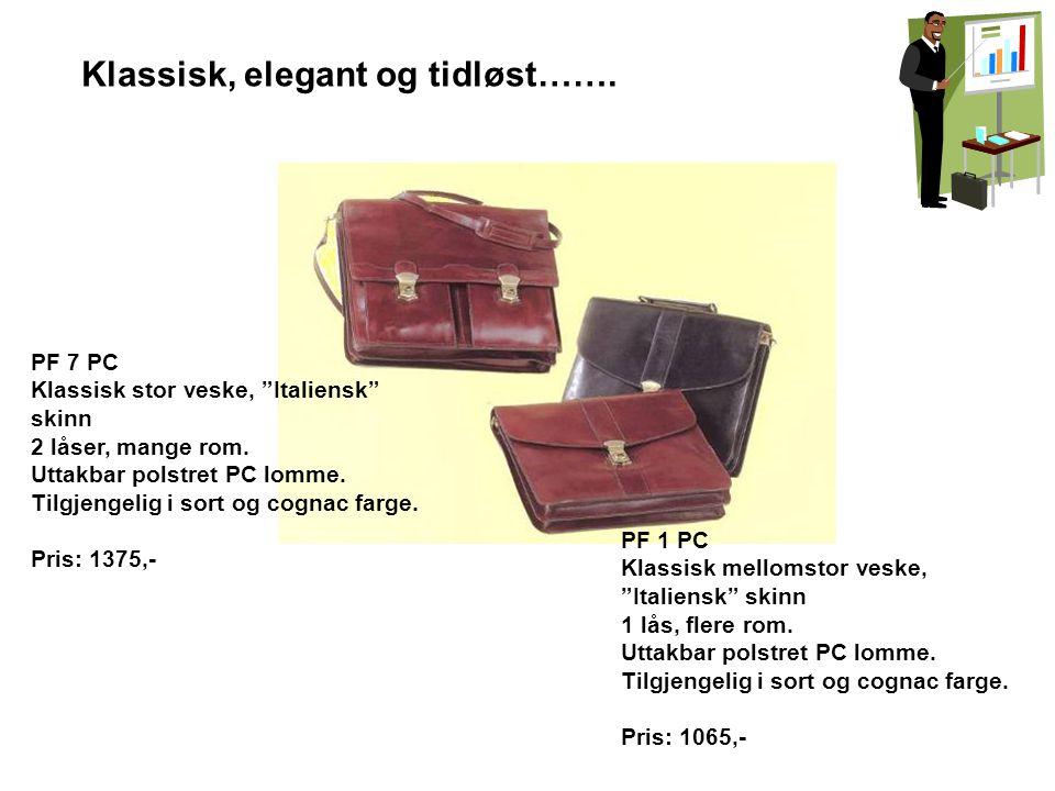 """Klassisk, elegant og tidløst……. PF 1 PC Klassisk mellomstor veske, """"Italiensk"""" skinn 1 lås, flere rom. Uttakbar polstret PC lomme. Tilgjengelig i sort"""